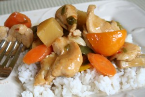 Yummy stir fry with chicken
